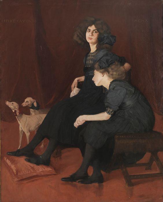 Felice Casorati, Le ereditiere (o Le sorelle), 1910