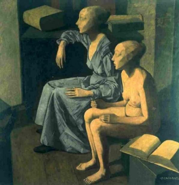 Felice Casorati le-due sorelle 1921