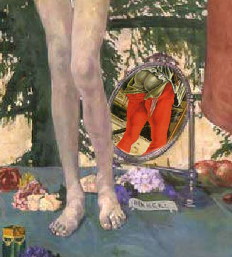 Felice Casorati le-signorine 1912 Venezia, Galleria d Arte Moderna miroir