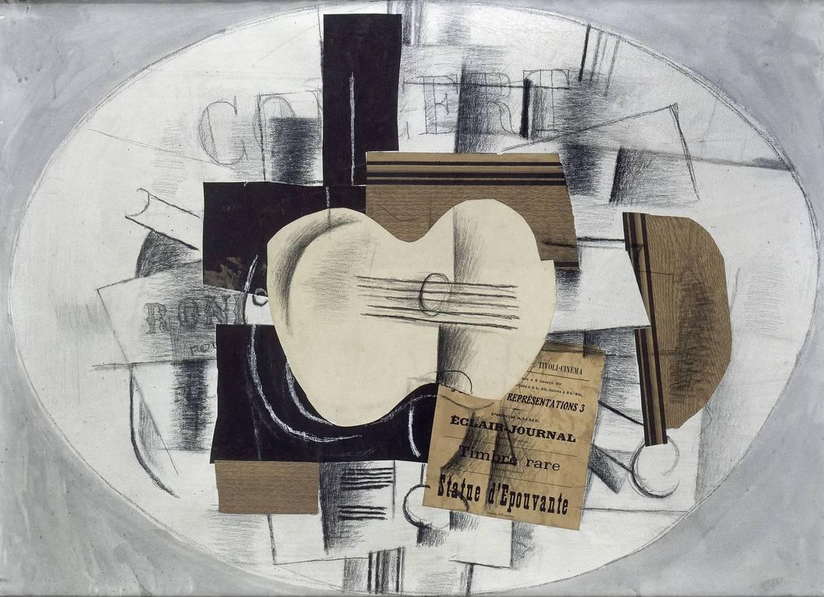 Georges_Braque,1913 nov la-guitare-statue-epouvante Musee Picasso Paris