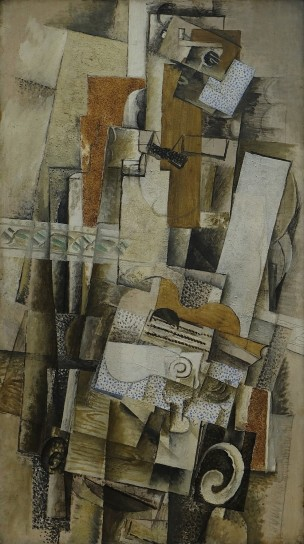 Georges_Braque,_1914 printemps 1914,_Homme_a_la_guitare Centre Pompidou