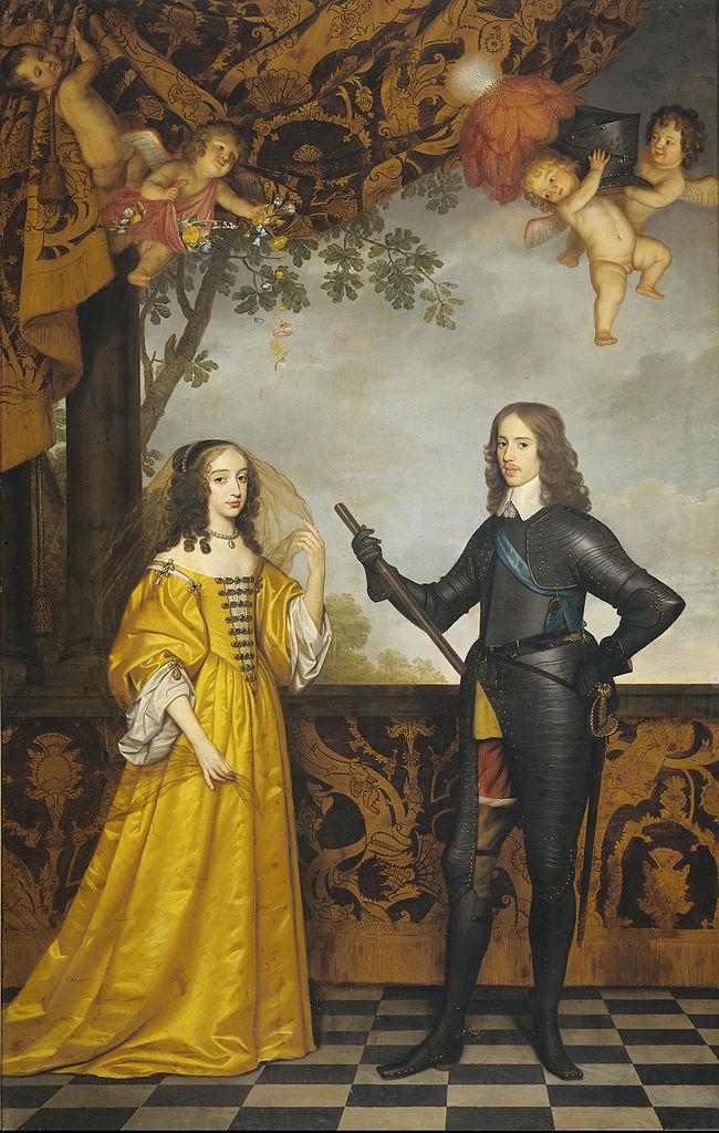 Gerard van Honthorst 1641 Le Prince Guillaume d'Orange (20 ans) et son epouse Marie-Henriette Stuart (16 ans) , Rijksmuseum, Amsterdam