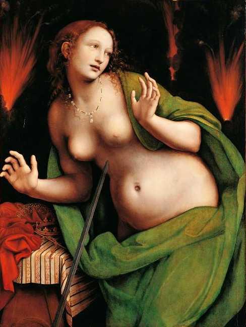 Giampietrino Suicide par armour Didone-c.-1520 Palazzo Borromeo Isola Bella