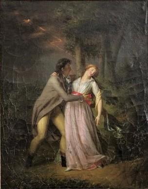 Girodet Trioson 1795-1800 Scenes de genre galantes La Frayeur de l'orage. Musee de Bernay