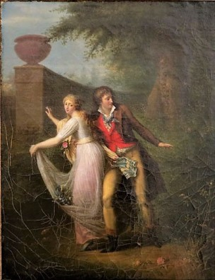 Girodet Trioson 1795-1800 Scenes de genre galantes La Frayeur du Reptile Musee de Bernay