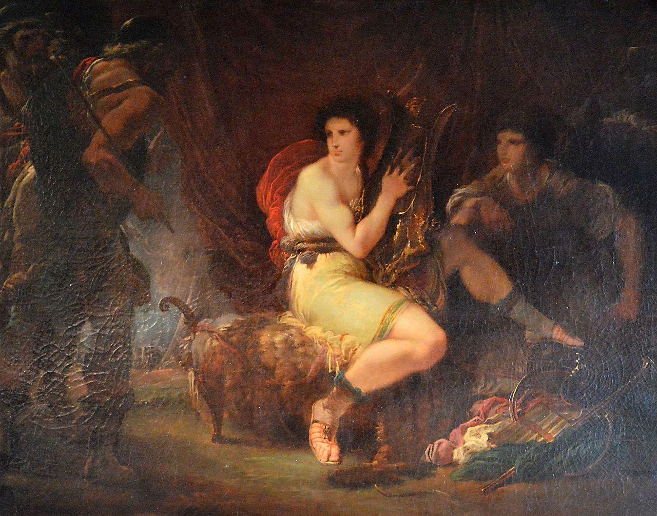 Giuseppe_Cades 1782 ca Achille,_jouant_de_la_lyre_sous_sa_tente_avec_Patrocle,_est_surpris_par_Ulysse_et_Nestor Louvre
