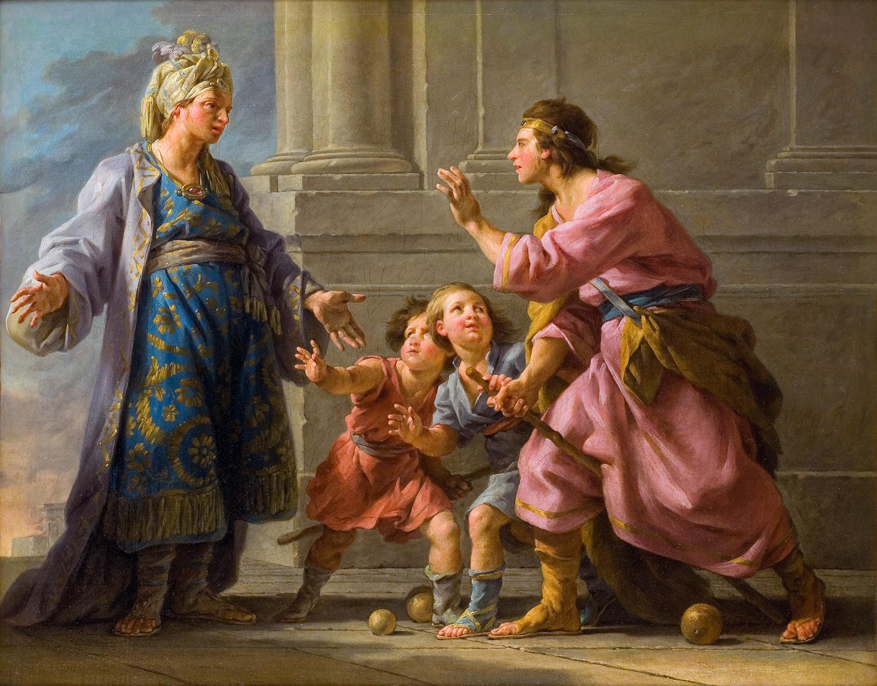 Halle 1779 Agesilas jouant avec ses enfants Musee Fabre Montpellier