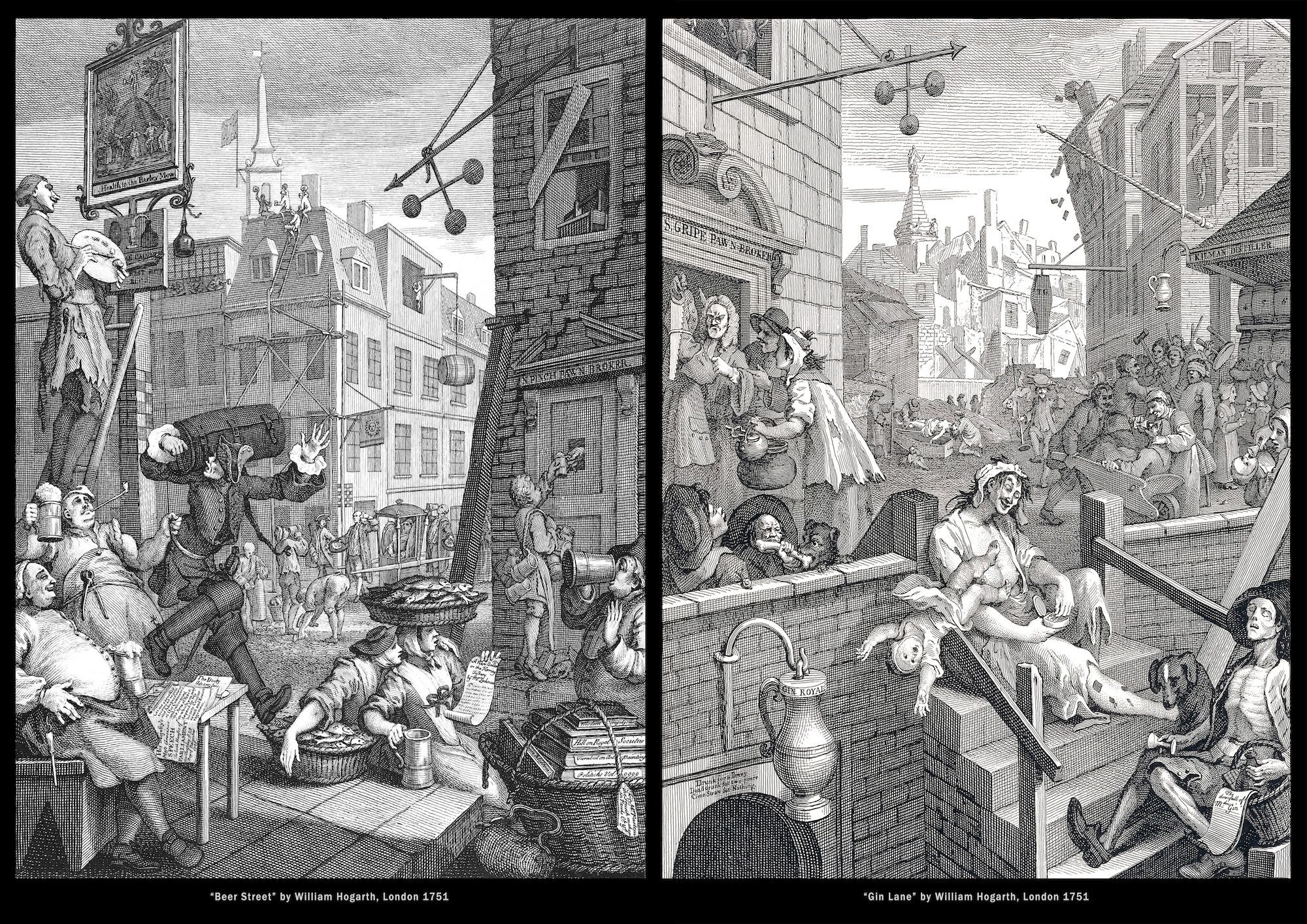 Hogarth 1751 Beer-street-and-Gin-lane