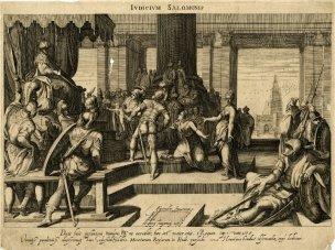 Hondius 1597 d apres Karel Van Mander Judicium Salomonis