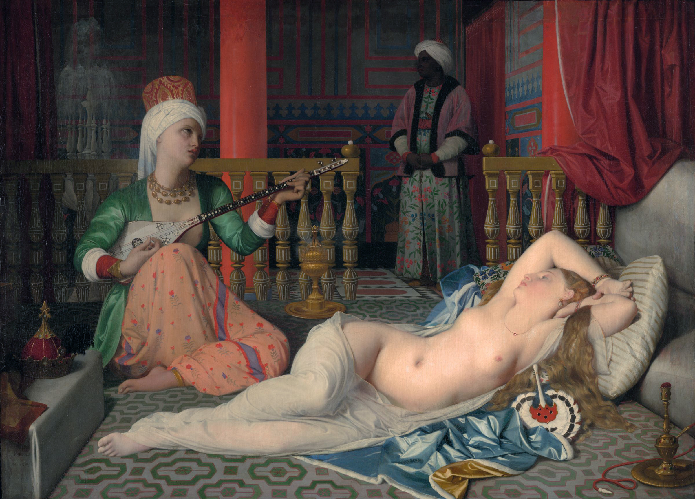 Odalisque with a Slave, by Jean-Auguste-Dominique Ingres