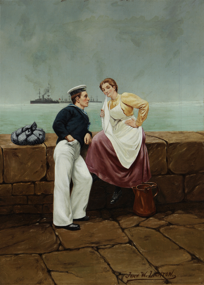 John W. Lighton Sailor and Girl Flirtation Knohl Collection Bowers Museum Santa Ana, California