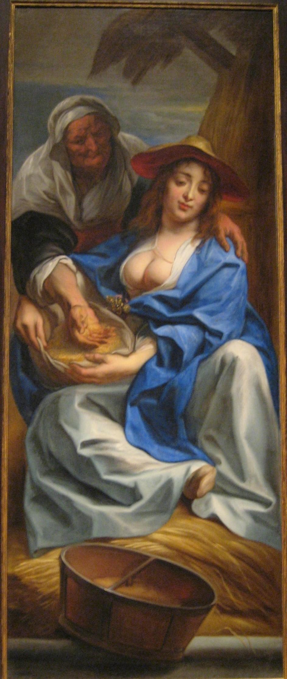Jordaens 1641-42 Ruth et Naomi Ringling Museum Sarasota