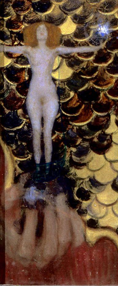 KLIMT Gustav , Pallas Athene, 1898, Vienne, Historisches Museum detail