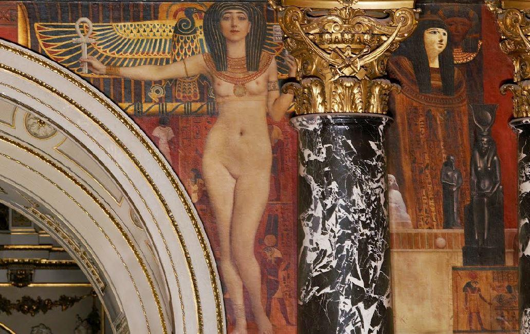 Klimt L Art egyptien 1890 Escalier du Kunsthistorisches Museum