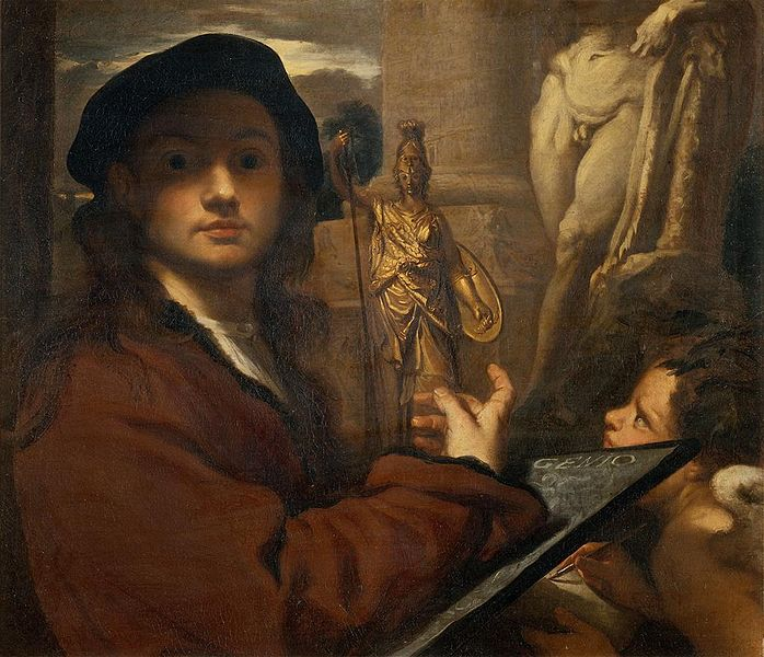 Livio Mehus Le genie de la sculpture vers 1650 Palais Pitti Florence