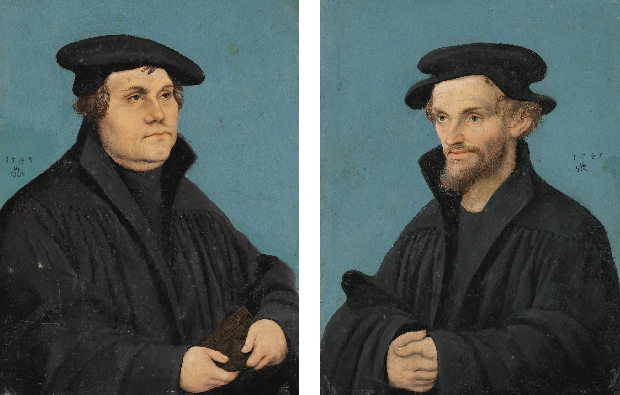 Lucas-Cranach-l'Ancien 1543 Martin-Luther-And-Philipp-Melanchthon coll privee