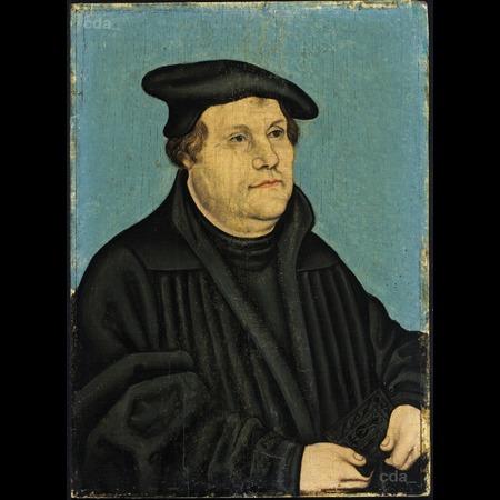 Lucas-Cranach-l'ancien 1532 Luther Staatliche Museen zu Berlin, Gemaldegalerie