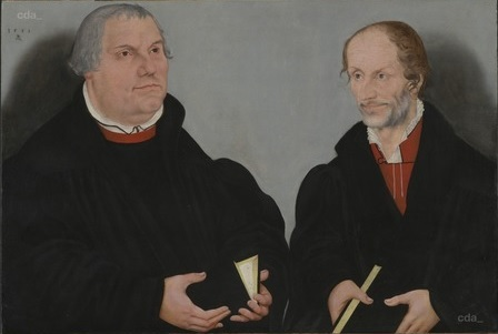 Lucas Cranach le jeune 1558 Martin Luther and Philipp Melanchthon North Carolina Museum of Art, Raleigh