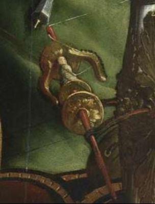 Maarten van Heemskerck, Portrait of a Spinning Woman, c. 1530.Madrid, Museo Thyssen-Bornemisza detail rouet
