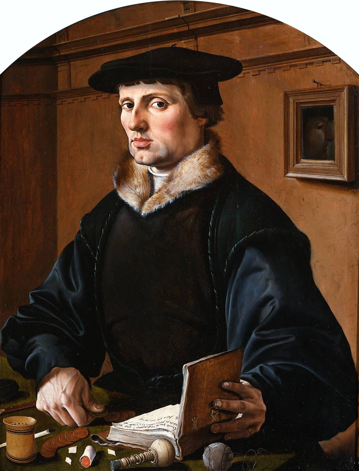 Maarten van Heemskerck,Portraits of a Couple, possibly Pieter Gerritsz Bicker and Anna Codde, 1529 Rijksmuseum man