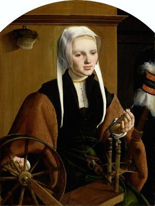 Maarten van Heemskerck,Portraits of a Couple, possibly Pieter Gerritsz Bicker and Anna Codde, 1529 Rijksmuseum woman