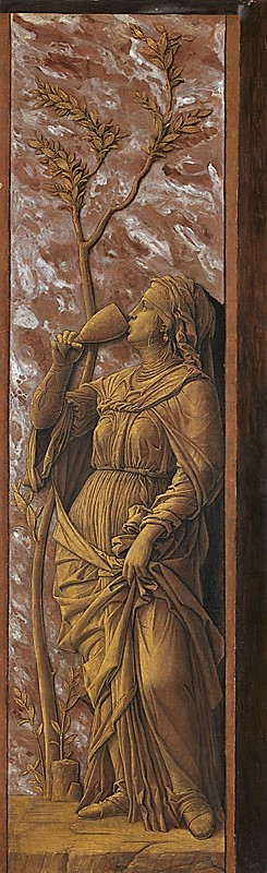 Mantegna 1490 A Woman Drinking Sophonisbe National Gallery 72.5 x 23 cm