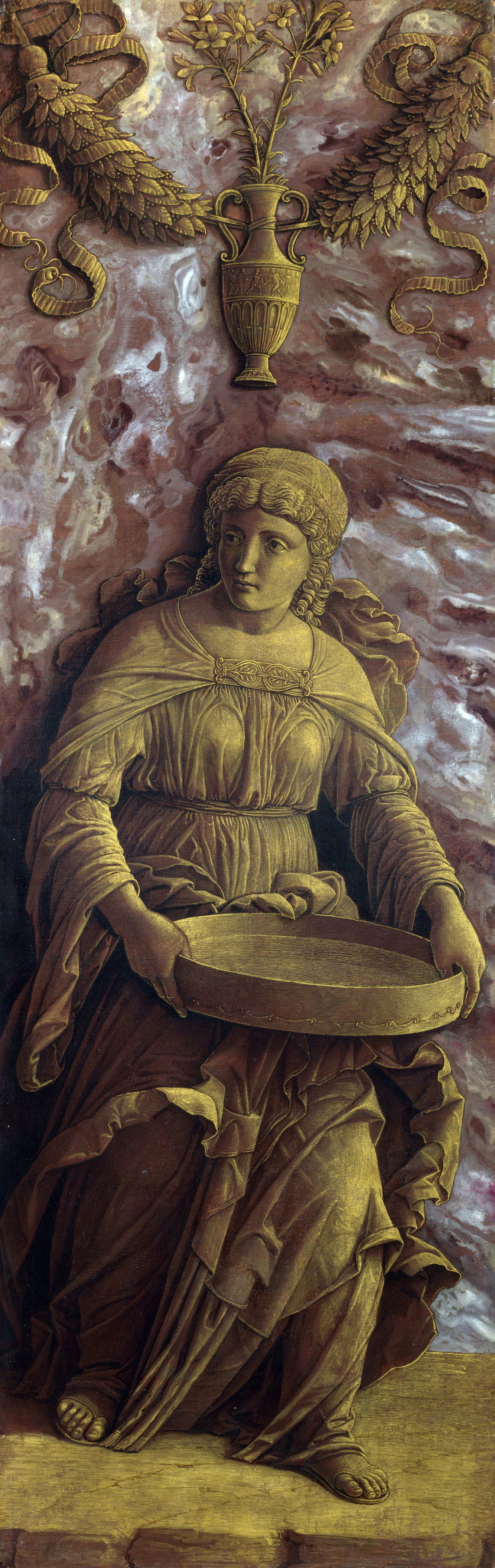 Mantegna-1490-The-Vestal-Virgin-Tuccia-with-a-sieve-National-Gallery