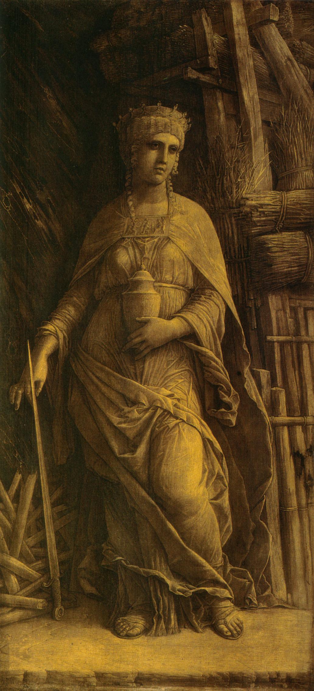 Mantegna 1490 ca didon Musee des BA Montreal 65,3 x 31,4 cm