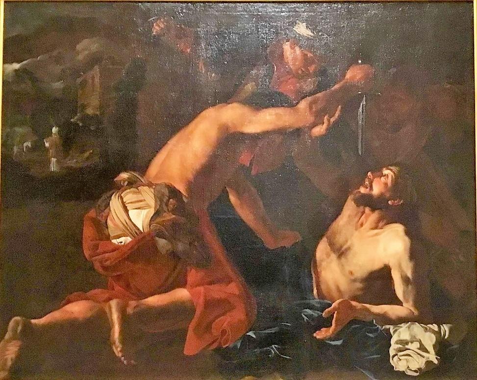 Mattias Stom 1630-50 Parabole di bon samaritain Musee des BA La Valette