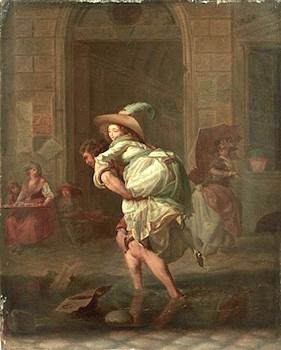 Michel Garnier 1799 Le Passage du ruisseau 46 x 38 cm