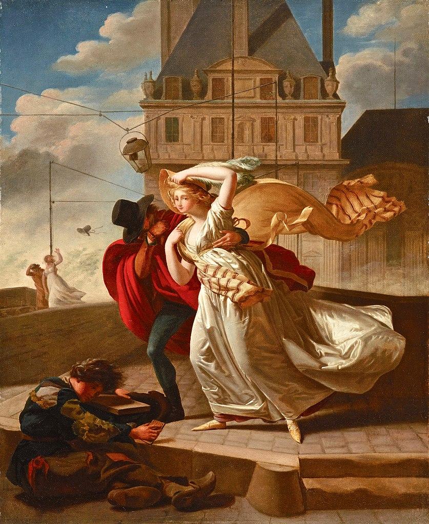 Michel Garnier 1799 Salon Le coup de vent sur le Pont royal (Dallas, Museum of Arts) 45 × 37 cm