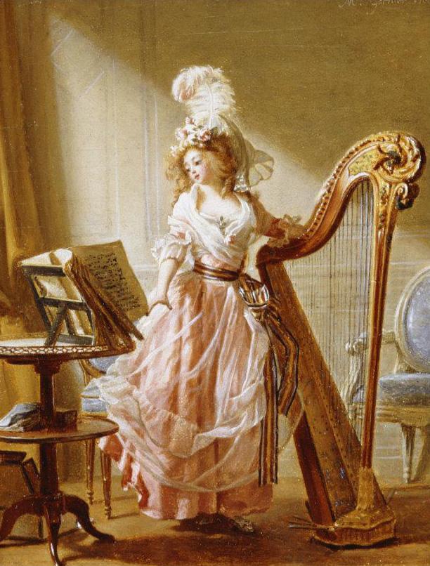 Michel_Garnier 1788 La jeune musicienne coll priv