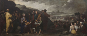 Murillo 1671-74 La multiplication du pain et des poissons Hopital de la Charite Seville