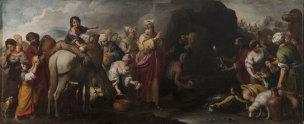Murillo 1671-74 Moise fait jaillir l eau du rocher de Horeb Hopital de la Charite Seville