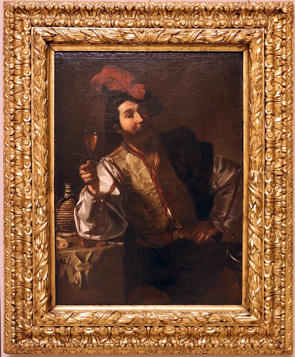 Nicolas_tournier,_soldato_che_alza_il_calice,_1619-24 Palazzo dei Musei (Modena)