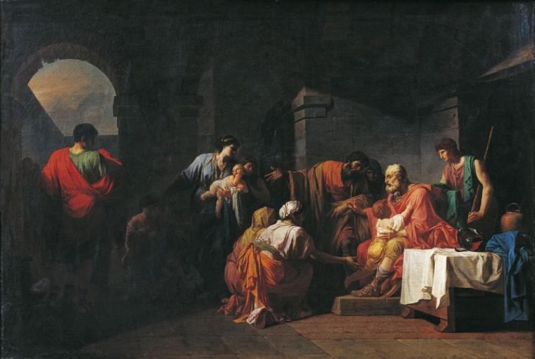 PEYRON Jean Francois Pierre 1781 Belisaire recevant l'hospitalite d'un paysan ayant servi sous ses ordres Musee des Augustins Toulouse