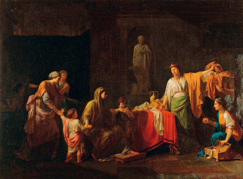 PEYRON Jean Francois Pierre 1782 Cornelie mere des Gracques Musee des Augustins Toulouse