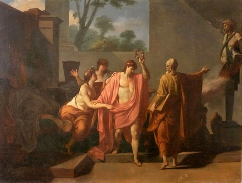 Pierre Peyron 1785 ca Socrate arrachant Alcibiade a la Volupte Musee de Gueret