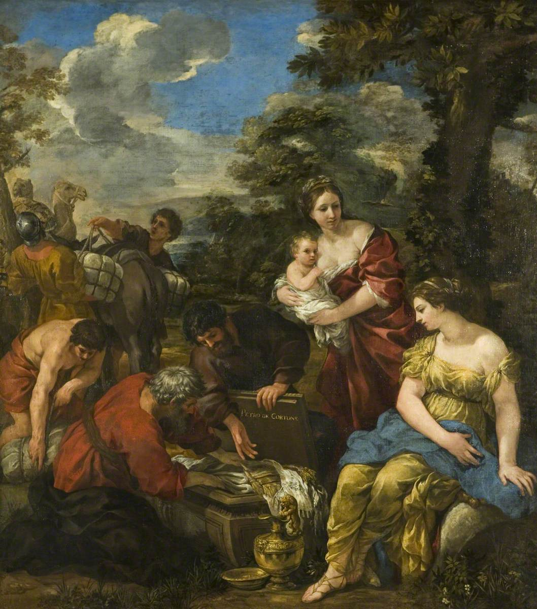 da Cortona, Pietro, 1596-1669; Laban Seeking His Idols