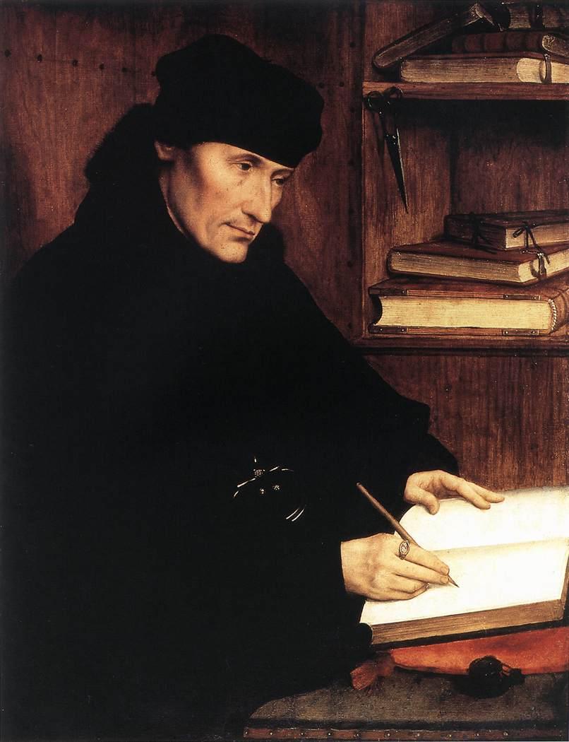 Quentin Metsys Portrait of Erasmus 1517 Galleria Nazionale d'Arte Antica, Rome