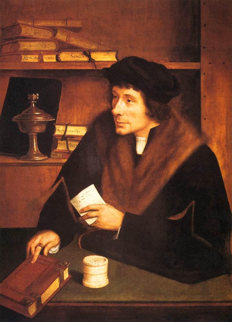 Quentin Metsys Portrait of Pieter Gillis 1517 Galleria Nazionale d'Arte Antica, Rome