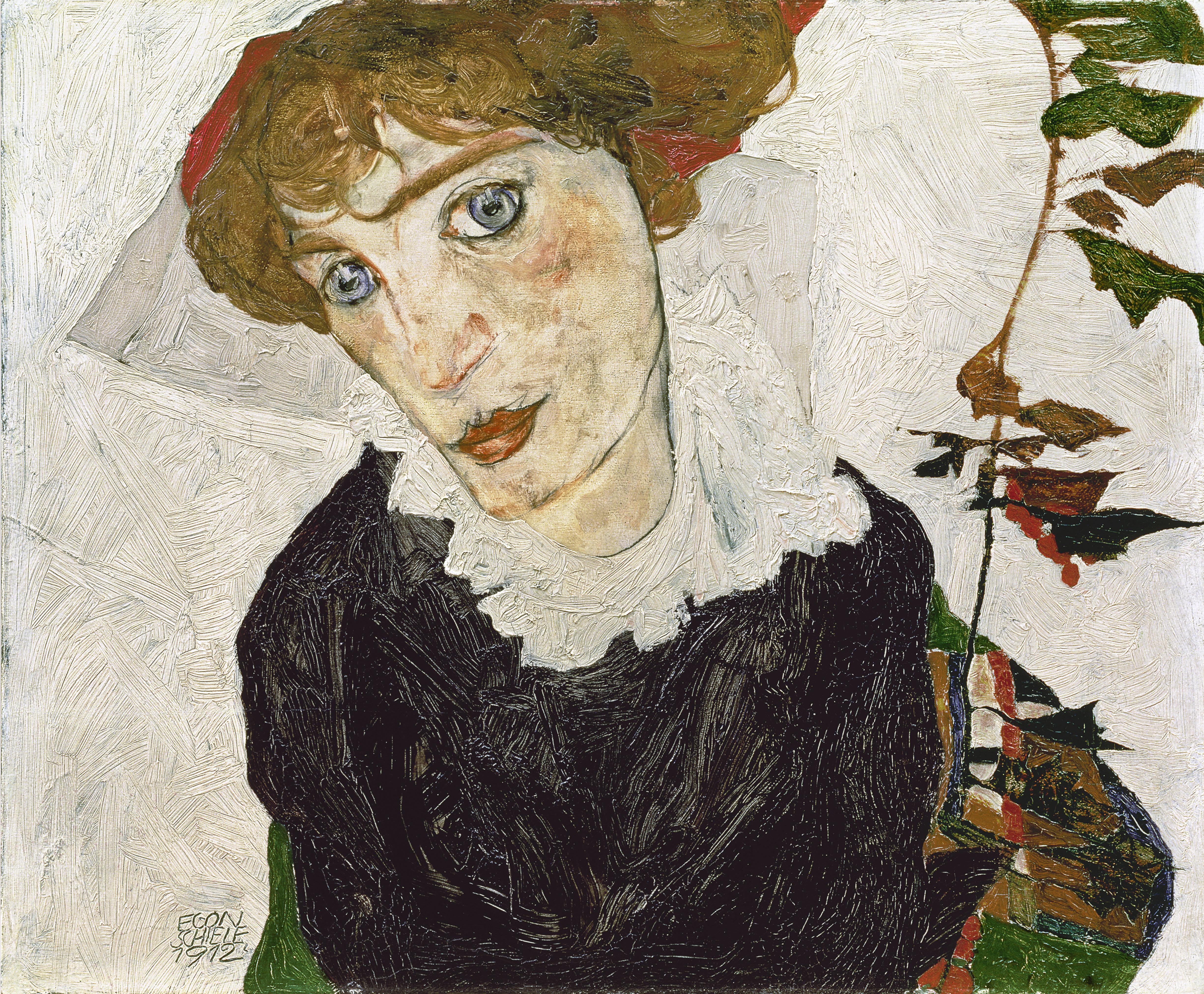 Schiele Potrait de Wally Neuzil 1912 Leopold Museum, Vienne.