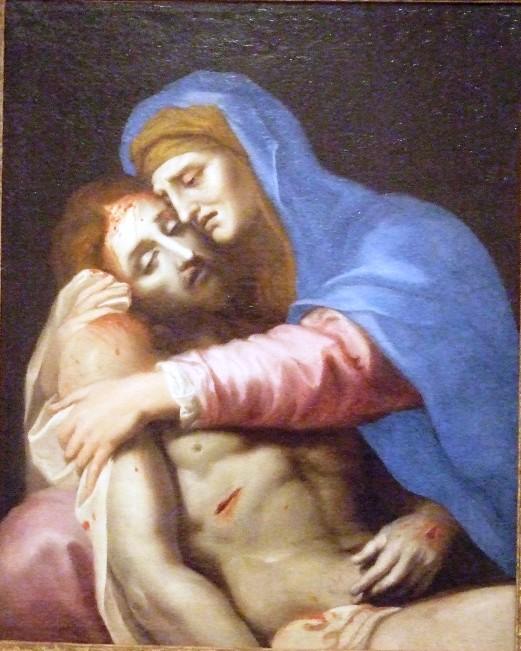 Stella 1650-55 Christ mort sur les genoux de la vierge Musee municipal de l'Eveche Limoges 65 x 53 cm