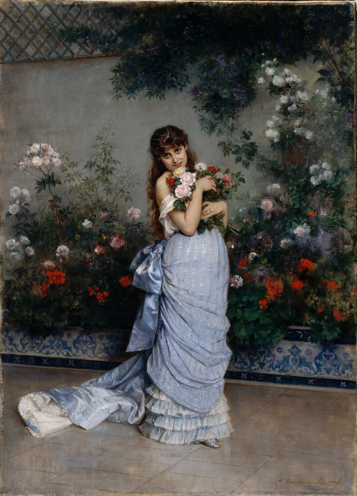 Toulmouche 1883 Dans la serre Musee d'Arts Nantes