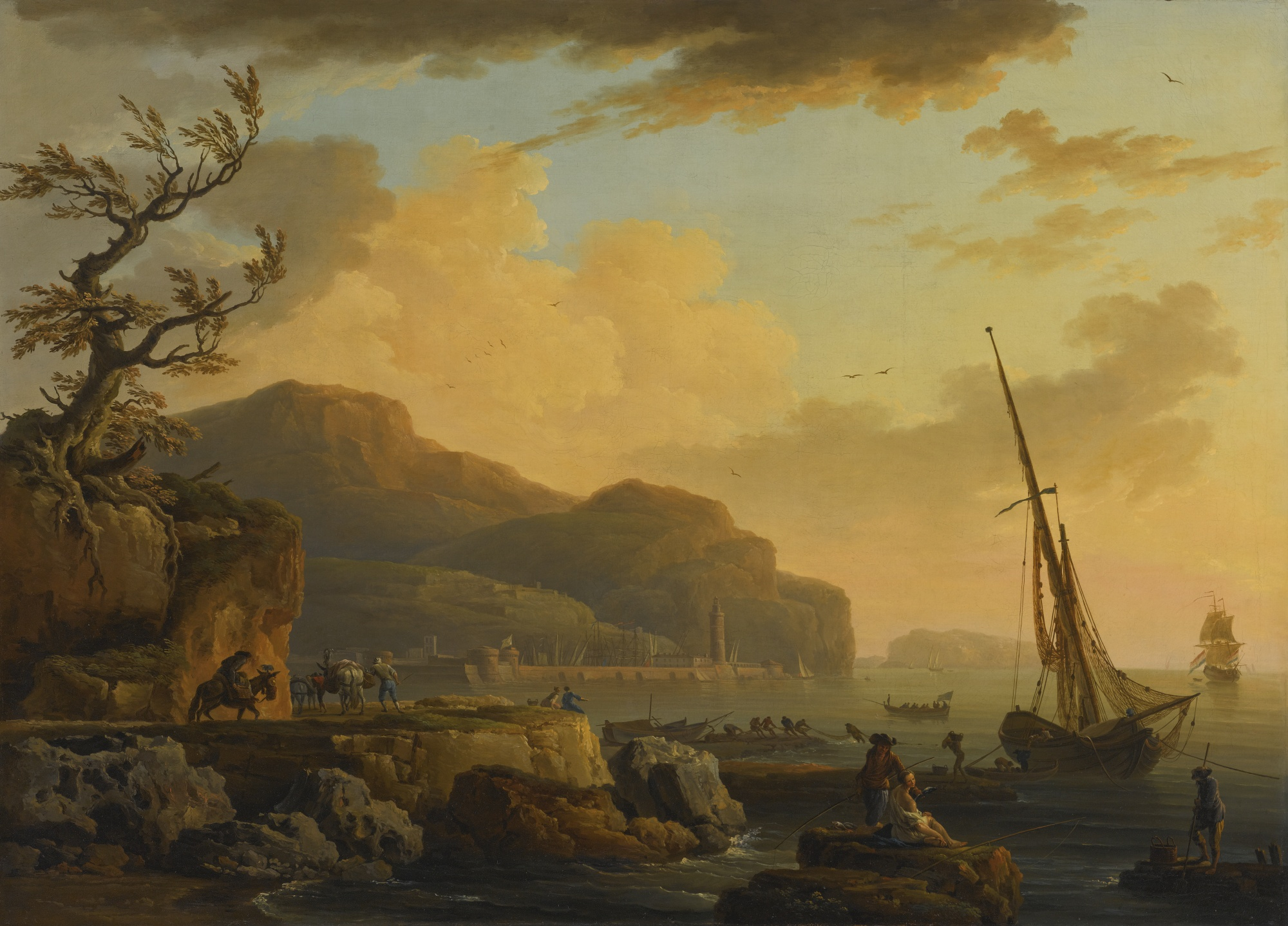 Vernet 1747 Morning_In_Castellemare Ermitage