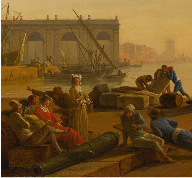 Vernet 1752 Le matin Collection privee detail
