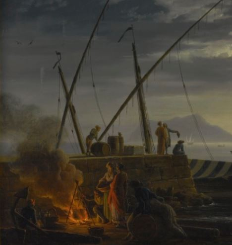Vernet 1752 Le soir Collection privee detail feu