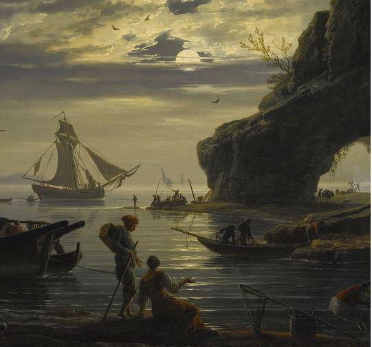 Vernet 1752 Le soir Collection privee detail