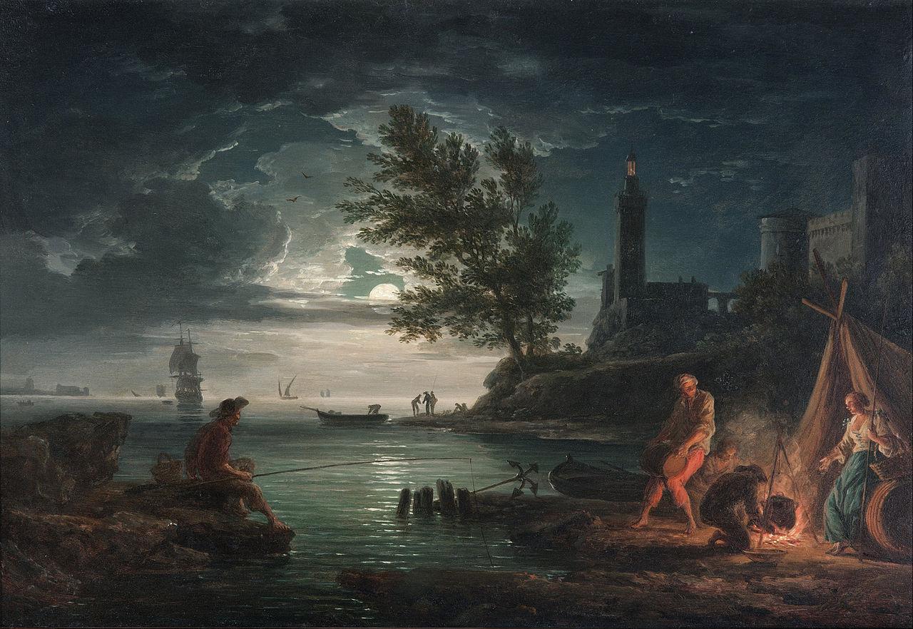 Vernet 1757 Les quatre heures du jour Nuit Art Gallery of South Australia, Adelaide