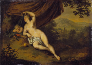 Wilhelm van mieris 1698 Venus and Cupid Wallace Collection Londres